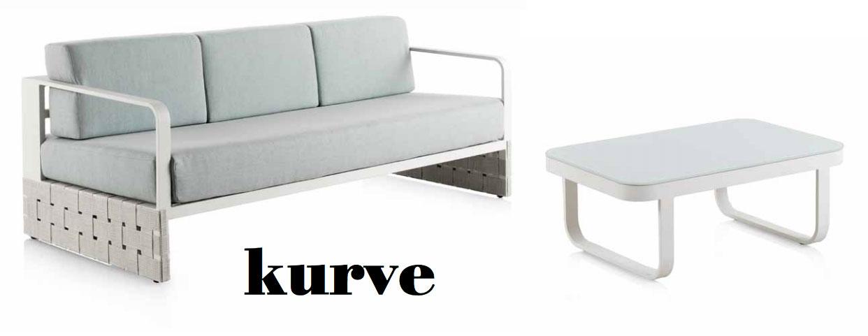 Mobiliario terraza y jardin KURVE