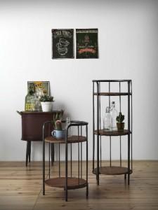 Mesitas metal y madera, catálogo deco Gabar