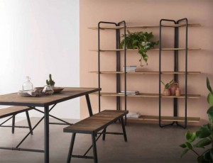 Mueble industrial, estanterias